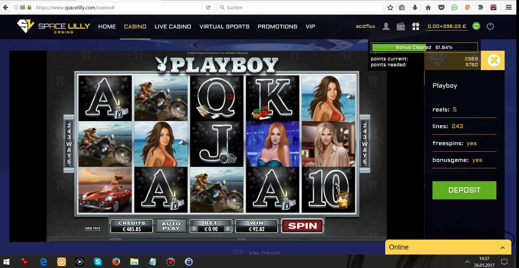 26.01.2017 - 14:37 (GMT+1) Playboy Online Slot