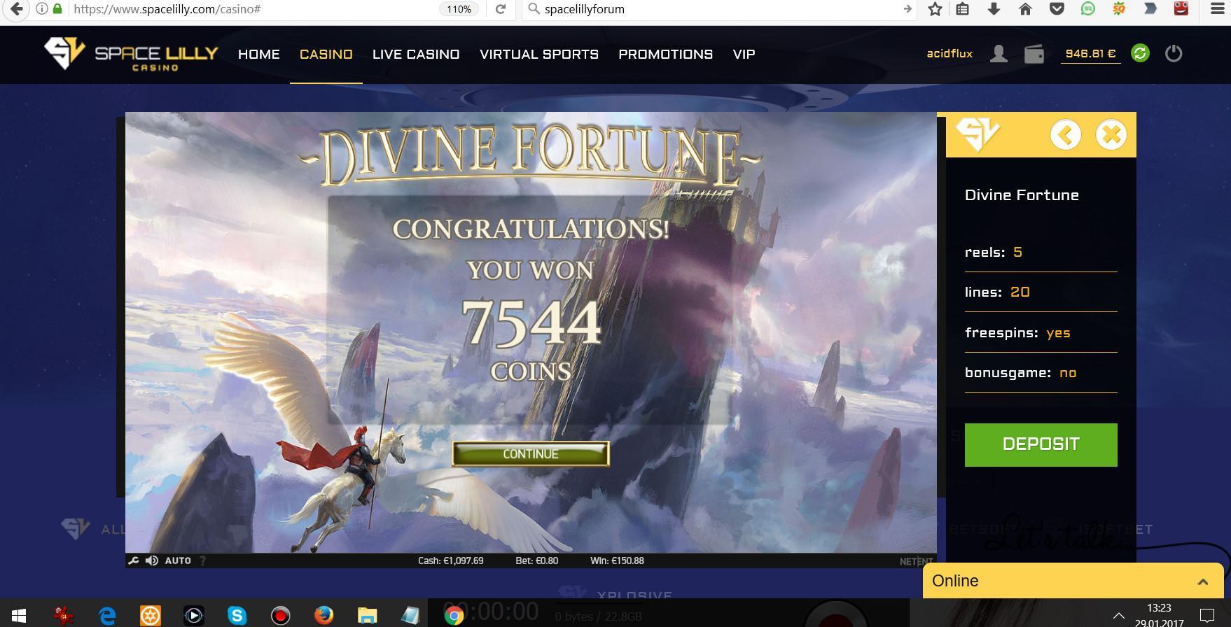 29.01.2017 - 13:23 (GMT+1) Divine Fortune